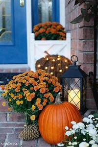 Indigo and Orange Fall Front Porch - Sand and Sisal