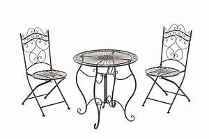 Balkon Tisch Stühle : sitzgruppe indra bistroset gartenm bel tisch 2x st hle outdoor balkon eisen ebay ~ Sanjose-hotels-ca.com Haus und Dekorationen
