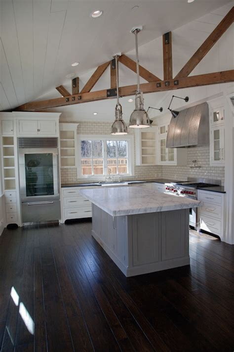 stunning kitchens design  exposed wood beams