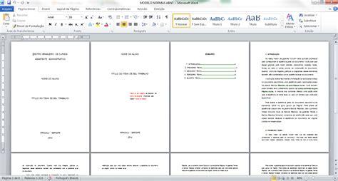 modelo de artigo em word nas normas da abnt 2016 como trabalho nas normas abnt