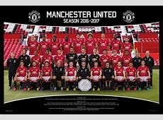 Manchester United Team Squad 2016 2017 Official Poster