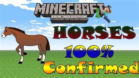 minecraft update xbox horses confirmed