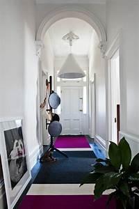 Teppich Grau Lila : teppich im flur sch ne interieur vorschl ge f r ihren eingangsbereich ~ Indierocktalk.com Haus und Dekorationen