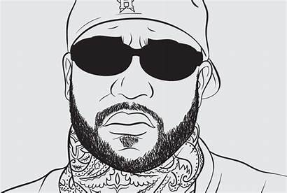 Coloring 2pac Bun Hip Hop Rs His