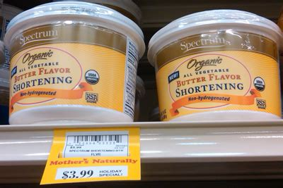 shortening substitute butter spectrum shortening new butter flavor still dairy free sure foods living gluten free and