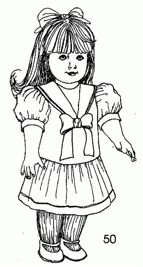American Girl Coloring Pages For Kids And For Adults