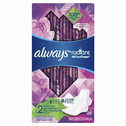 Pads Always Radiant Wings Heavy Scent Clean