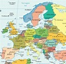 Map Of Europe Countries And Capitals