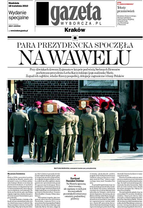 Gazeta Wyborcza Wydanie Specjalne - Po pogrzebie by Marek ...