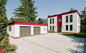 Moderne Häuser Bauen : moderne h user cubatur freie planung putzfassade hauseingang mit vorplatz haus moderne ~ Buech-reservation.com Haus und Dekorationen