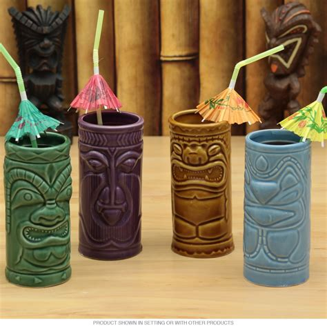 themed kitchen canisters hawaiian tiki gods mug set tiki cocktail glasses