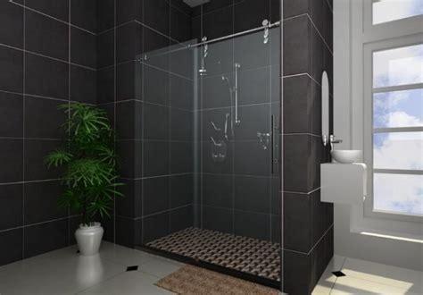 modern bathroom perfect sliding door   shower