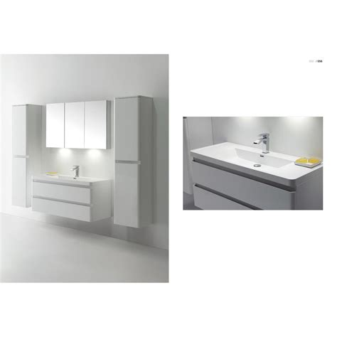 bathroom wall vanity cabinets amaral 47 25 quot wall mount bathroom vanity high glossy white