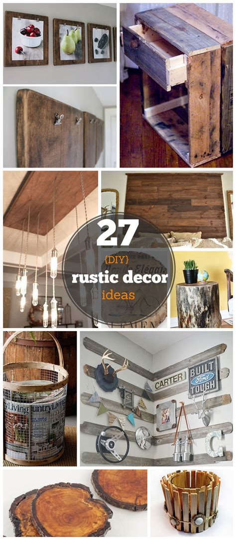 diy home interior design ideas 27 diy rustic decor ideas for the home diy rustic home