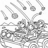 Meteor Coloring Designlooter Backyardigans Austin 300px 27kb sketch template