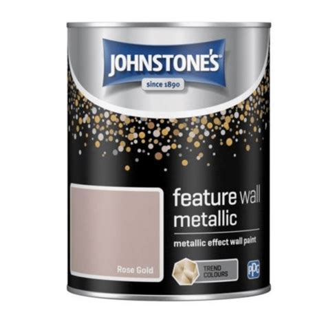 johnstones rose gold metallic effect feature wall paint