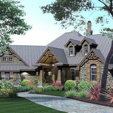 single story  bedroom mountain ranch home  rv garage floor plan   craftsman style