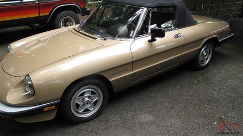 1986 Alfa Romeo Spider Veloce Champagne Gold Low Miles