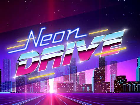 neon drive  style arcade game ios ipad mod db
