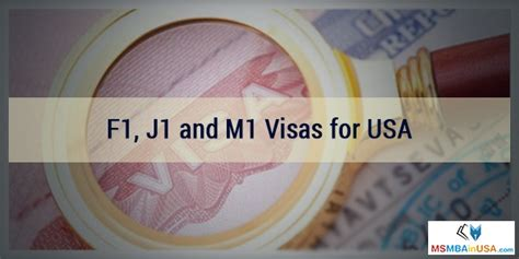 Types Of Student Visa For Usa