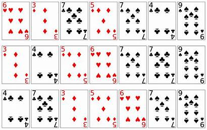 Playing Cards Printable Deck Svg Sort Sorting