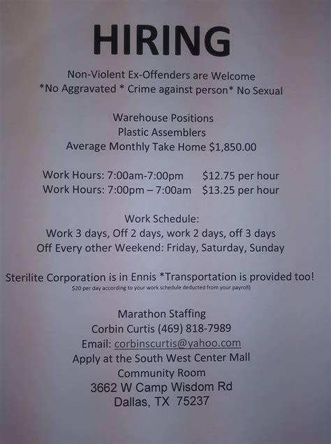 felons jobs hire baltimore chances 2nd