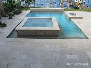 travertine around pool modern with deck tiles traditional
