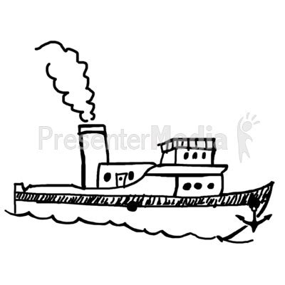 Tugboat Outline by Cruise Ship Clipart Tug Boat Pencil And In Color Cruise