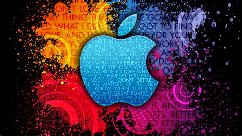 apple logo kreativer bunter hintergrund  hd