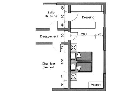 plan chambre dressing chambre avec dressing et salle de bain 5 plan chambre