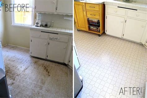 kitchen linoleum floor  afterclorox water