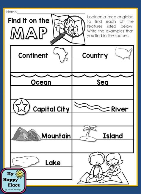 maps unit with powerpoint and printables geography