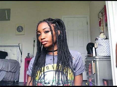 quick easy box braid hairstyles youtube short