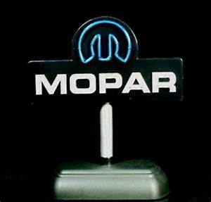 Mopar Desktop Light Up Neon Style Sign GMP Acmetrading on