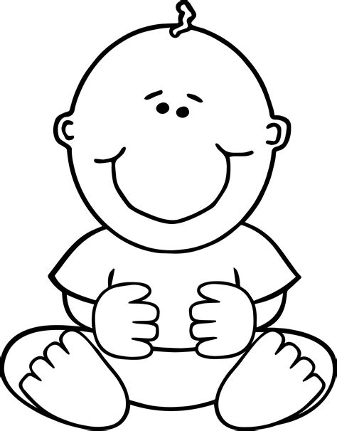 awesome sitdown baby boy coloring page wecoloringpage