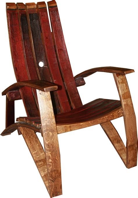 wine barrel stave adirondack chair a twist with vintage