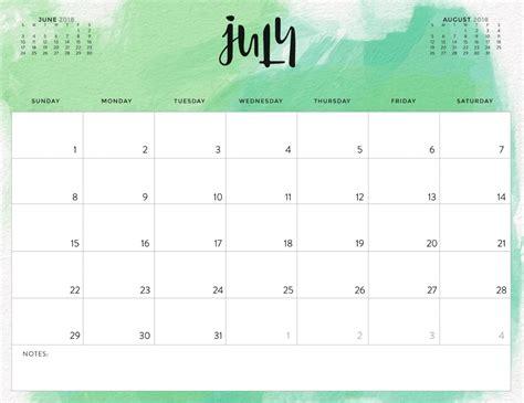 july calendar template july 2018 calendar calendar 2018