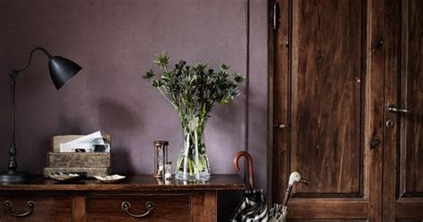 dusty purple wall color   neutral interiors dark dramatic pinterest wall colors