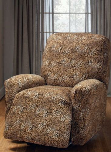 leopard jersey recliner stretch slipcover furniture couch