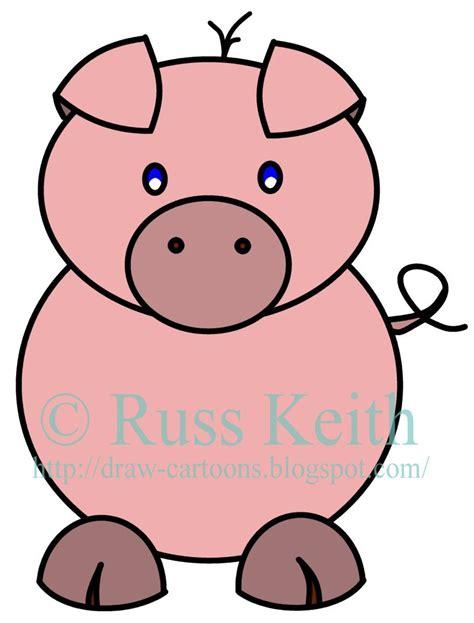 draw cartoons pig