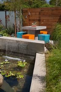 designs jolis et spectaculaires de jardin aquatique With amenagement de jardin avec des pierres 17 la deco exterieure avec une fontaine murale archzine fr