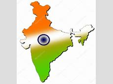 Indian map with tricolour — Stock Photo © mohamedmaaz86