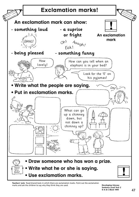 exclamation marks basic punctuation home page