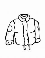 Winter Coloring Coat Clothes Jacket Line Draw Clipart Clip Clothing Printable Cliparts Coats Hat Raincoats Drawing Library Rain Sketch Colouring sketch template