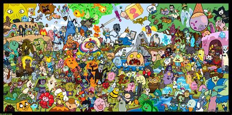 Finn And Jake Wallpaper Adventure Time Mixed Characters Wallpaper Background Wallpaper Hd