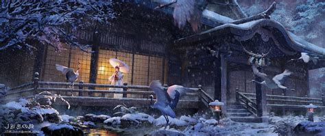 Wallpaper Wide Anime - ultra wide japan anime birds animals wallpapers