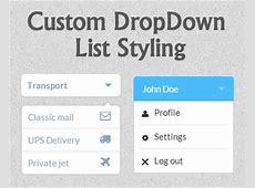 Custom DropDown List Styling jQuery Plugins