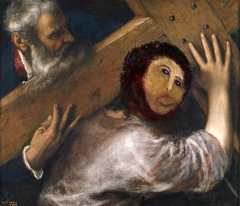 Jesus Painting Restoration Meme - hilarious internet reactions to the botched ecce homo restoration bored panda