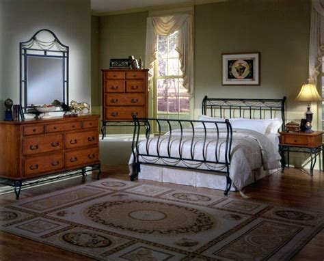 Hillsdale Camelot Metal Bedroom Collection With Cherry