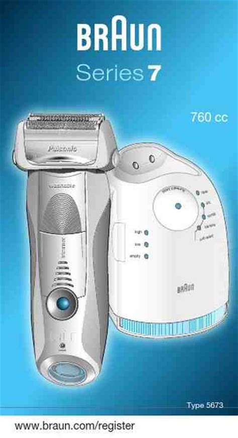 braun cc electric shaver razor manual